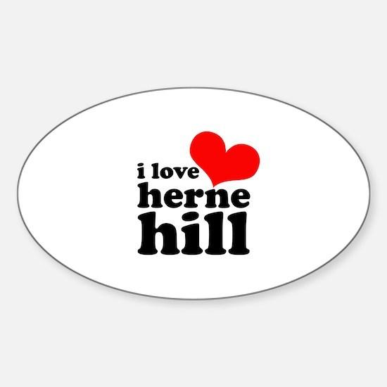 i love herne hill Sticker (Oval)