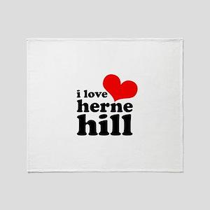 i love herne hill Throw Blanket