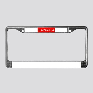 Canada Label License Plate Frame