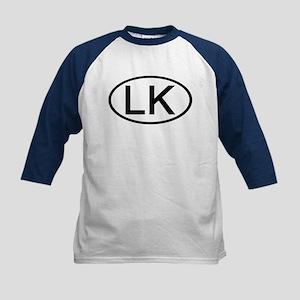 LK - Initial Oval Kids Baseball Jersey