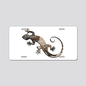 Brown Stone Gecko Aluminum License Plate