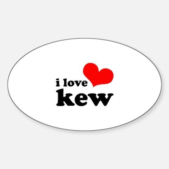 i love kew Sticker (Oval)