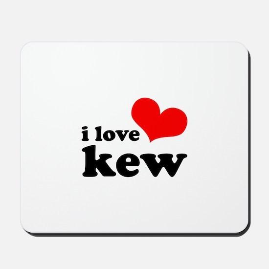 i love kew Mousepad