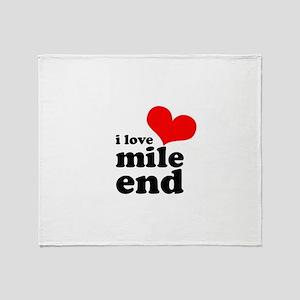 i love mile end Throw Blanket