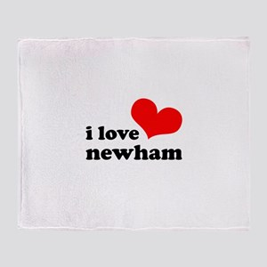 i love newham Throw Blanket