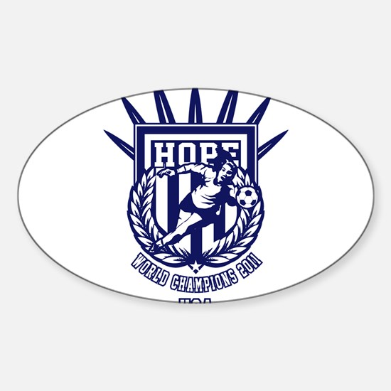 Funny Hope solo Sticker (Oval)