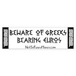 Greeks Bearing Euros Sticker (Bumper 50 pk)