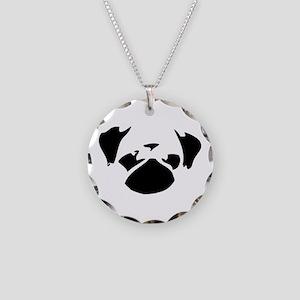 Cutie Pug Necklace Circle Charm