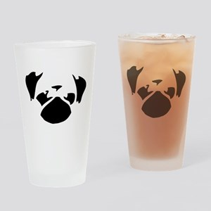 Cutie Pug Drinking Glass