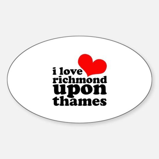 i love richmond upon thames Sticker (Oval)