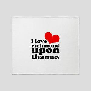i love richmond upon thames Throw Blanket