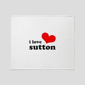 i love sutton Throw Blanket
