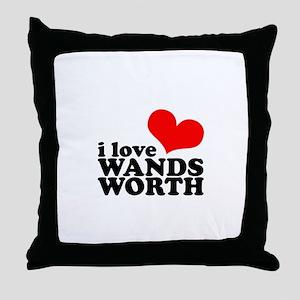 i love wandsworth Throw Pillow