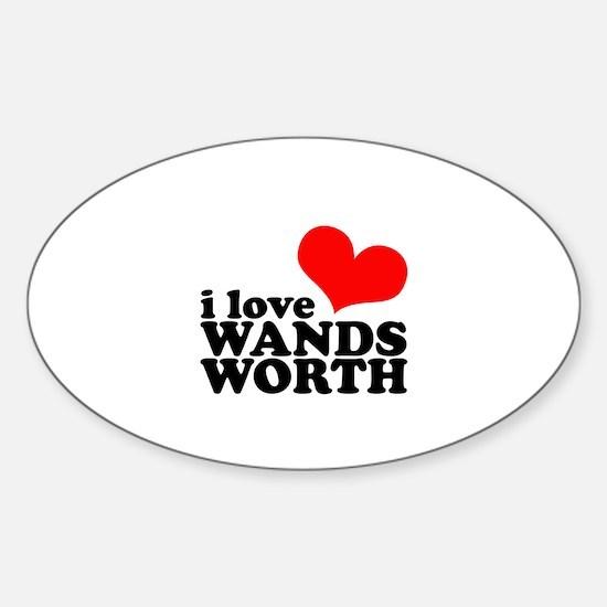 i love wandsworth Sticker (Oval)