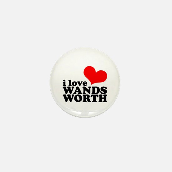 i love wandsworth Mini Button