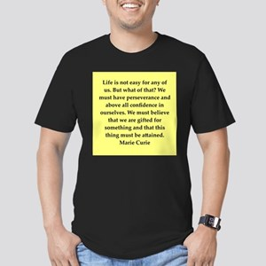 pierre and marie currie quote Men's Fitted T-Shirt