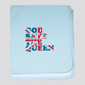 god save the queen (union jac baby blanket