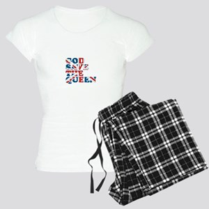 god save the queen (union jac Women's Light Pajama