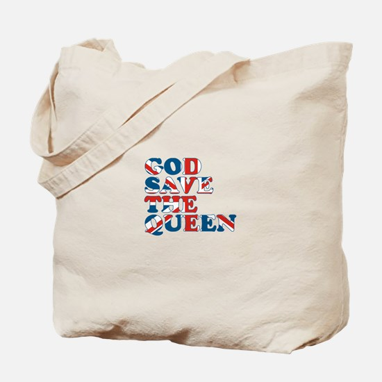 god save the queen (union jac Tote Bag