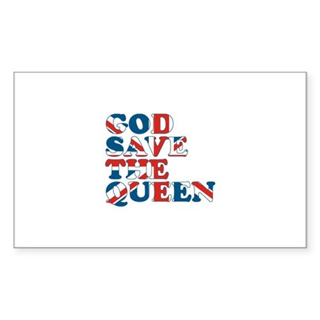 god save the queen (union jac Sticker (Rectangle)
