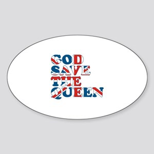 god save the queen (union jac Sticker (Oval)