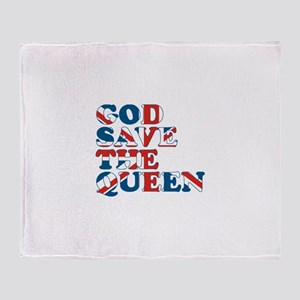 god save the queen (union jac Throw Blanket