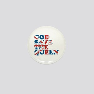 god save the queen (union jac Mini Button