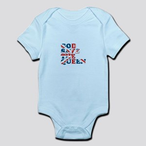 god save the queen (union jac Infant Bodysuit