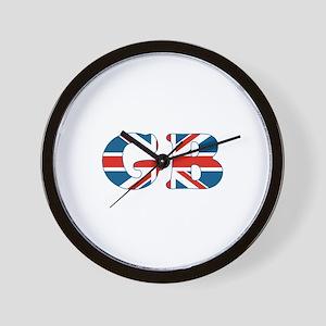 GB (union jack) Wall Clock