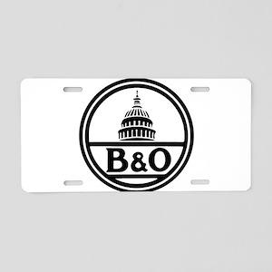 Baltimore and Ohio railroad Aluminum License Plate