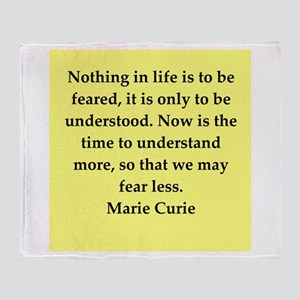pierre and marie curie quote Throw Blanket