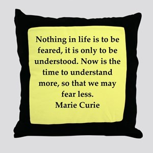 pierre and marie curie quote Throw Pillow