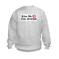 Kiss Me I'm Jewish Sweatshirt