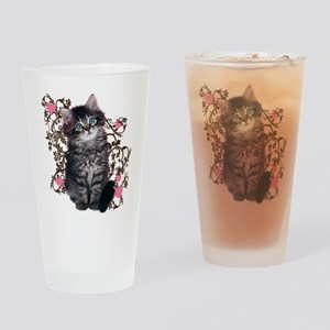 Cute Kitten Kitty Cat Lover Drinking Glass