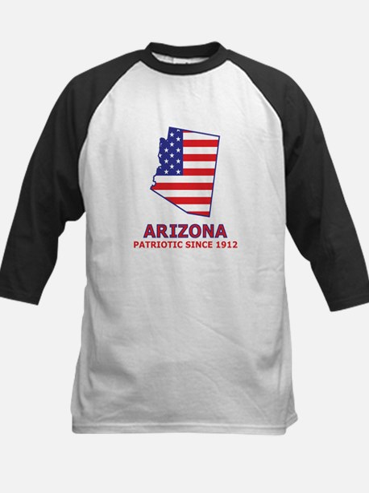AZ USA Flag Map 2 Kids Baseball Jersey