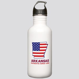 AR USA Flag Map 2 Stainless Water Bottle 1.0L
