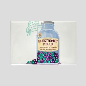 electronic pills Rectangle Magnet