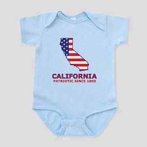 CA USA Flag Map 2 Infant Bodysuit
