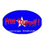Free Yourself Oval Sticker