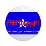 Free Yourself Ornament (Round)