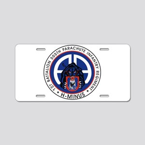 1st / 505th PIR Aluminum License Plate