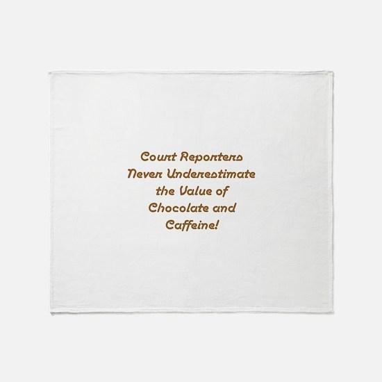 Court reporter Throw Blanket