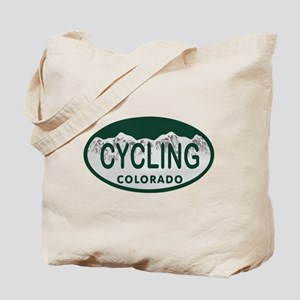Cycling Colo License Plate Tote Bag
