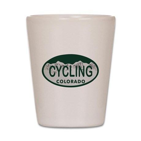 Cycling Colo License Plate Shot Glass