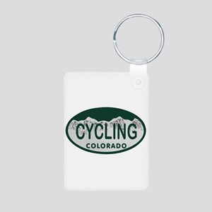 Cycling Colo License Plate Aluminum Photo Keychain