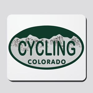 Cycling Colo License Plate Mousepad