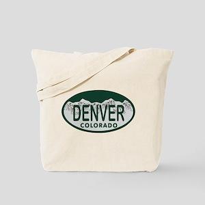 Denver Colo License Plate Tote Bag