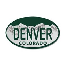 Denver Colo License Plate Wall Decal