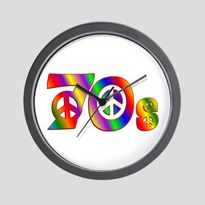 70s PEACE SIGN Wall Clock