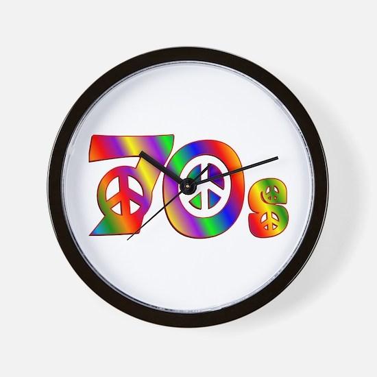 70s PEACE SIGN Wall Clock